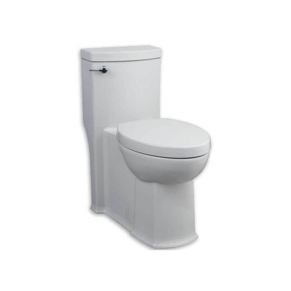 American Standard Boulevard FloWise 1-piece 1.28 GPF Single Flush Elongated Toilet with Concealed Trap-Way in White