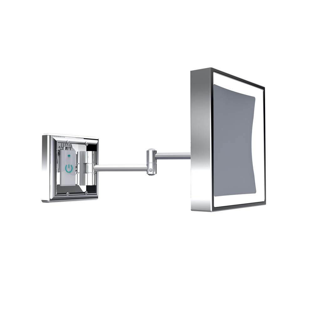 Baci Mirrors Baci Senior Smart Mirror - Double Swing Arm - Square