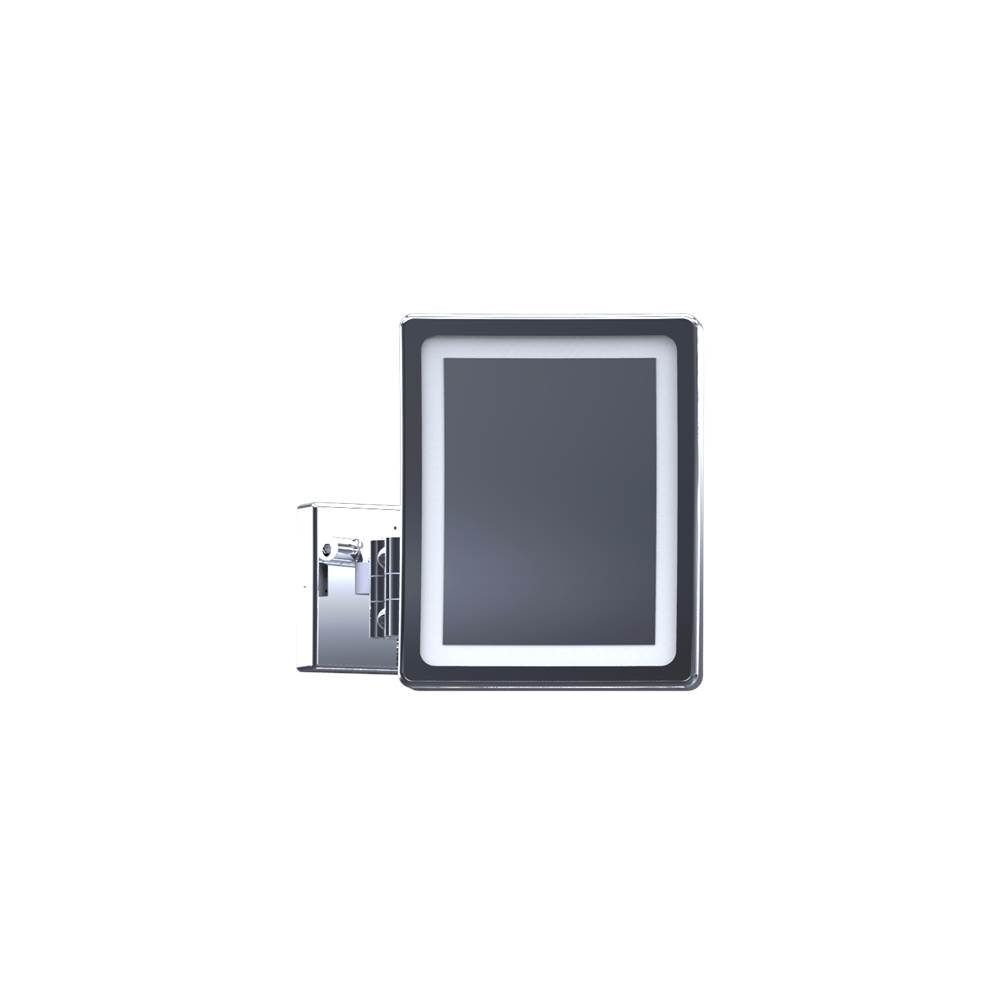 Baci Mirrors Baci Basic Square Double Arm Wall Mirror - Halo - Led