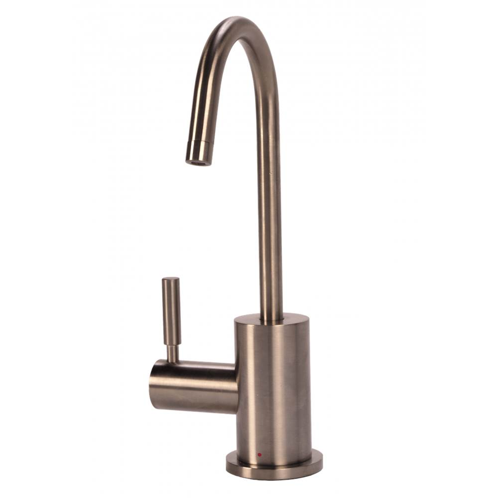 BTI Aqua Solutions Contemporary C-Spout Hot Only Filtration Faucet-Brushed Nickel