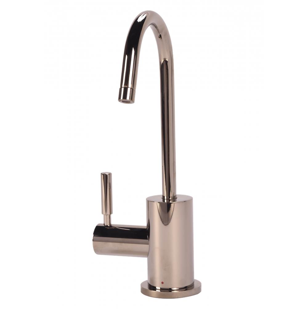 BTI Aqua Solutions Contemporary C-Spout Hot Only Filtration Faucet-Polished Nickel