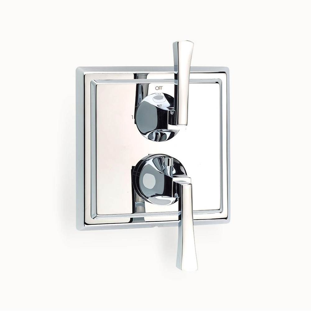 Crosswater London Leyden Dual-control Thermostatic Valve with Volume Control and Diverter Trim with Lever Handles