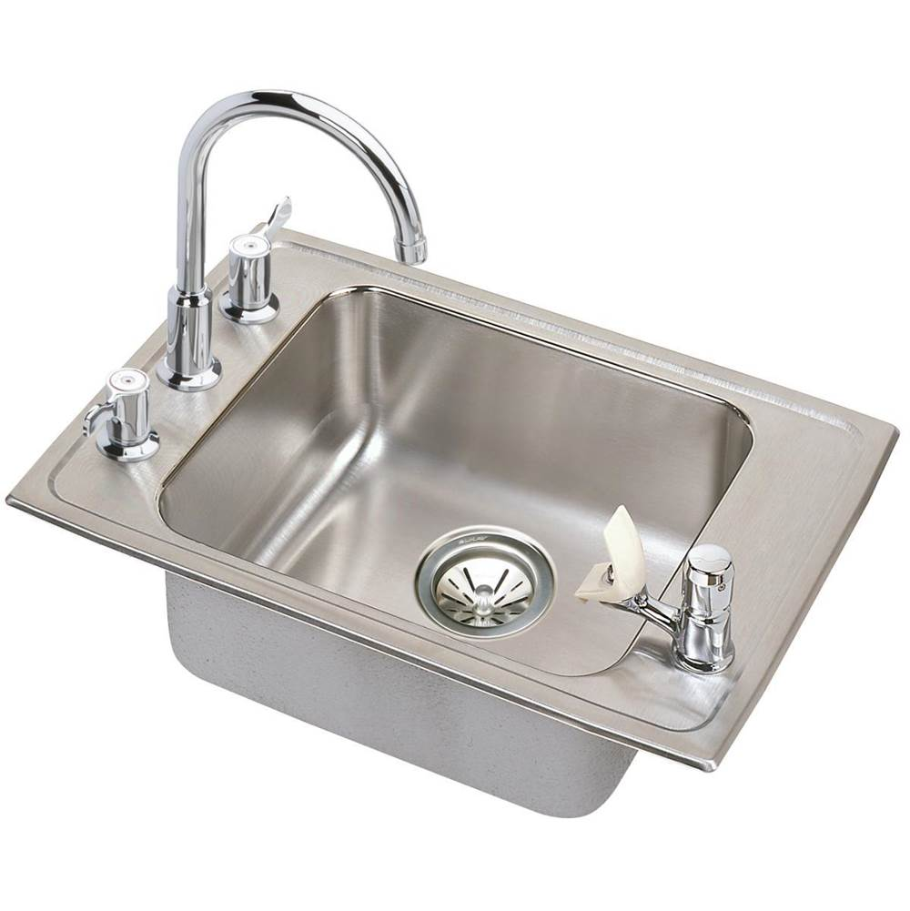 Elkay Elkay Lustertone Classic Stainless Steel 25'' x 17'' x 6-1/2'', Single Bowl Drop-in Classroom ADA Sink Kit