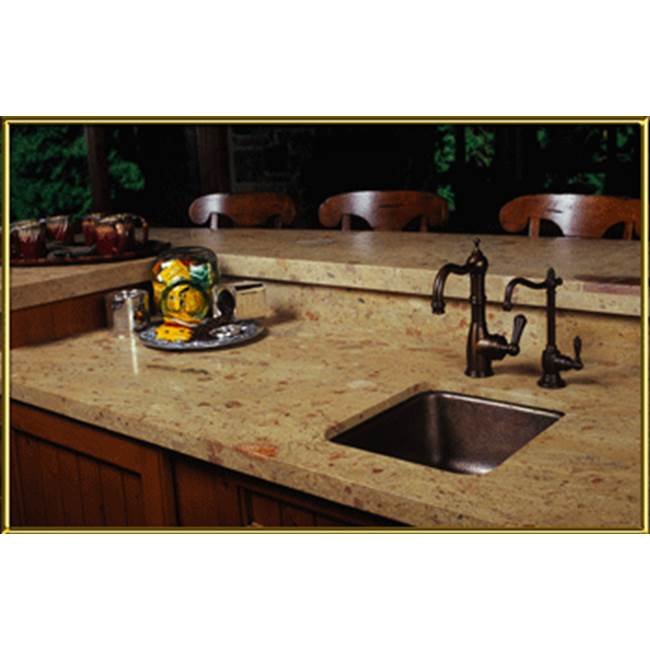 Elite Bath Square1614-S1614 Dropin/Undermount Hammered
