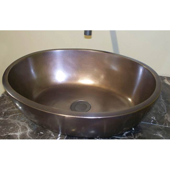 Elite Bath Colonial-SOV18 Vessel-Oval Traditional Bronze