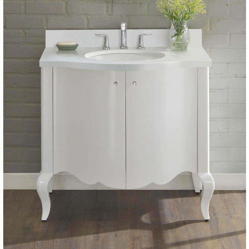 Fairmont Designs Belle Fleur 36'' Vanity In Glossy White
