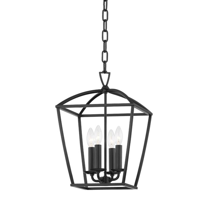 Hudson Valley Lighting Bryant 4 Light Small Pendant In Aged Iron