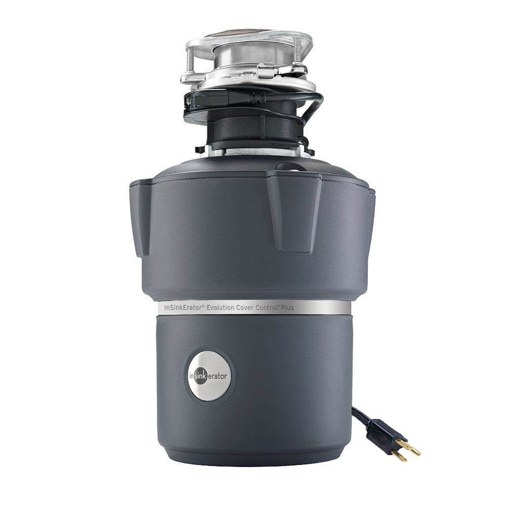 Insinkerator Pro Series Evolution Pro Cover Control Garbage Disposal with Batch Feed, 7/8 HP, Part Number: 77089A