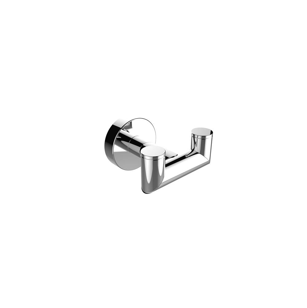 Kartners OSLO - Double Robe Hook  - Brushed Nickel