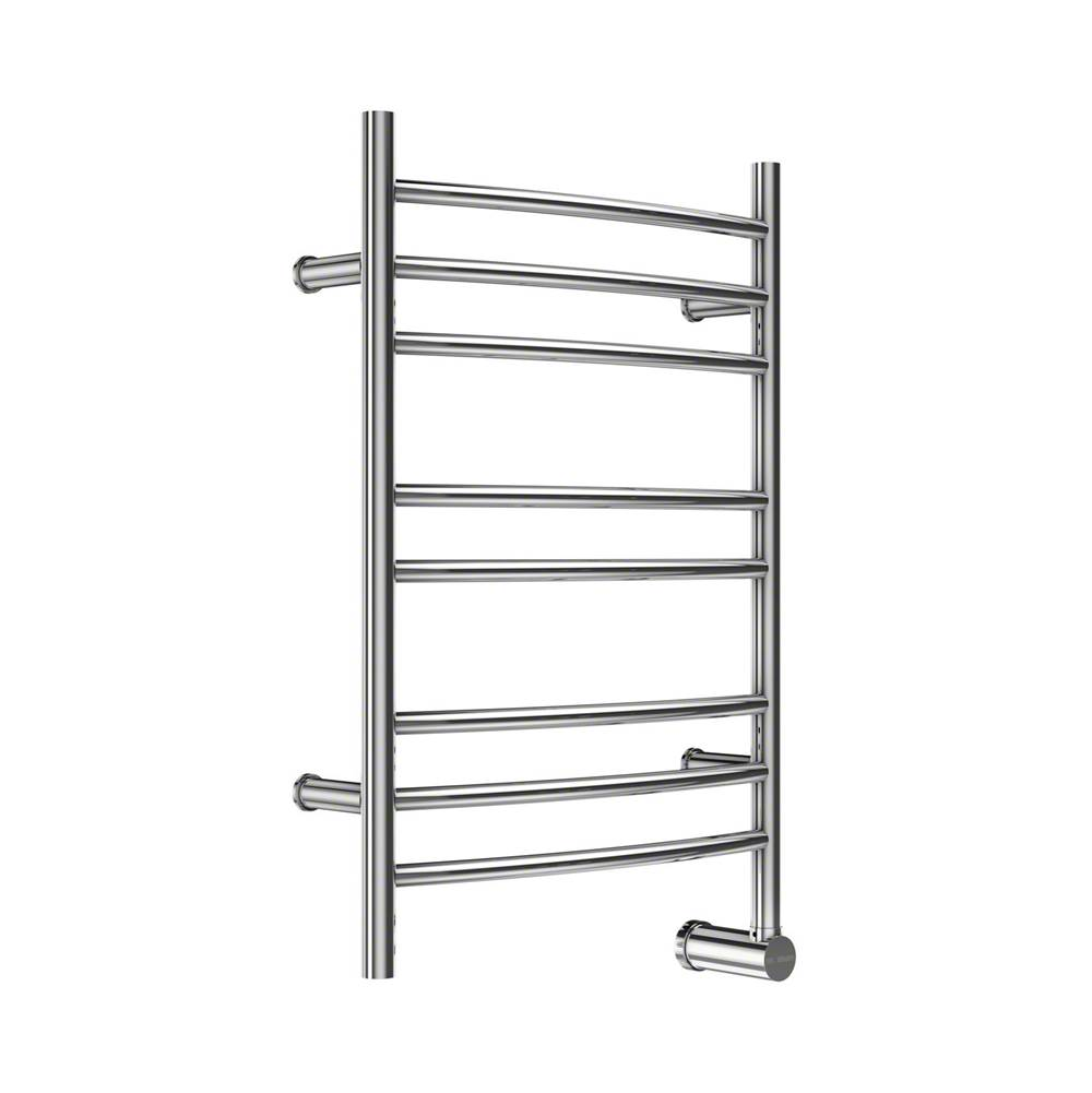 Mr. Steam W328 8-Bar Wall Mounted Electric Towel Warmer with Digital Timer in Stainless Steel Brushed