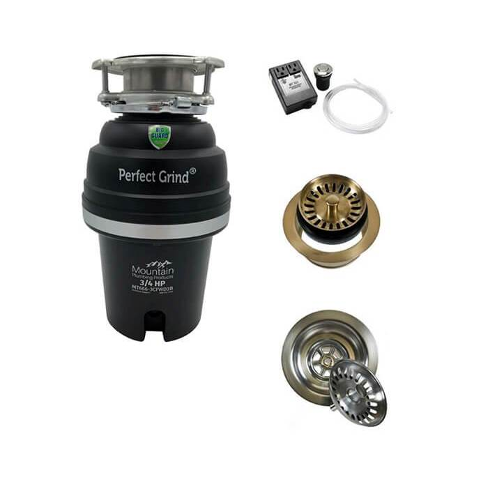 Mountain Plumbing Disposer/Flange Kit for Double Bowl