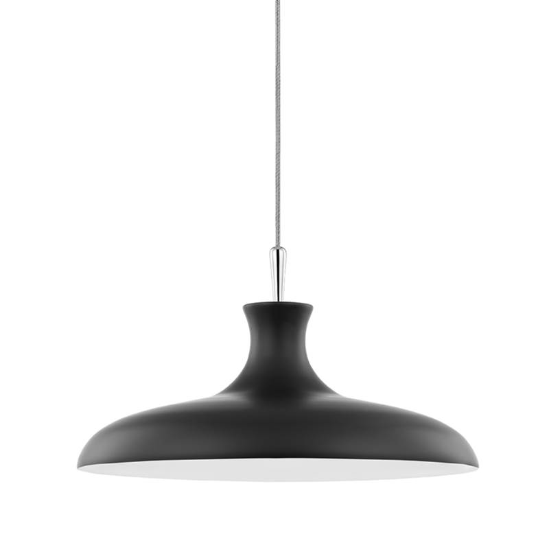 Mitzi Cassidy 1 Light Large Pendant Polished Nickel/Black