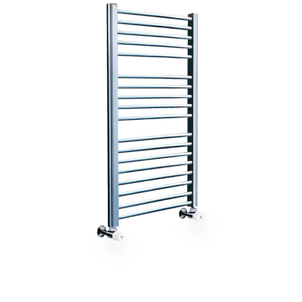 Myson COS85 Satin Nickel Straight Bars Hydronic 37''H x 20''W Valves not incl.