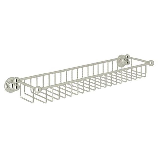 Rohl Perrin & Rowe® Edwardian Wall Mount Sponge Basket in Polished Nickel