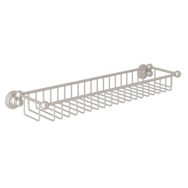 Rohl Perrin & Rowe® Edwardian Wall Mount Sponge Basket in Satin Nickel