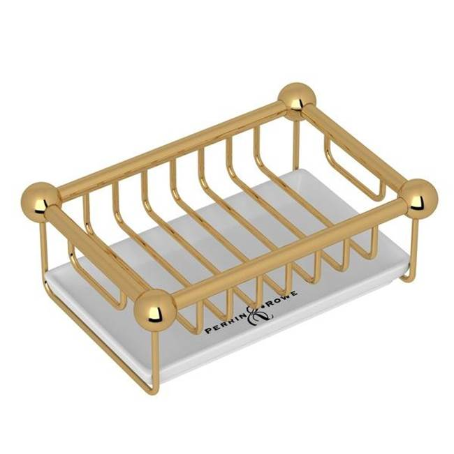 Rohl Perrin & Rowe® Free Standing Soap Basket in English Gold