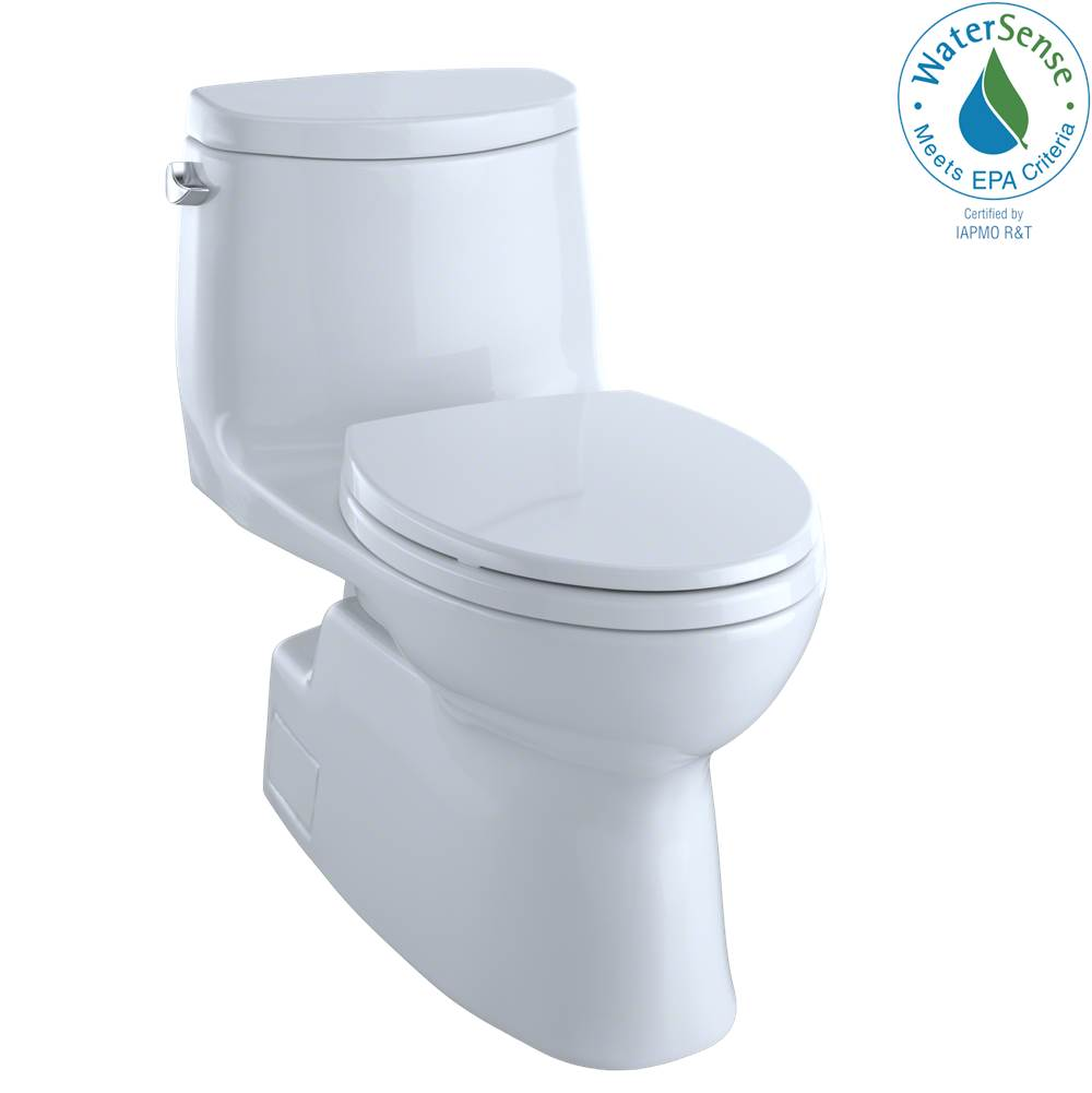 Toto Carlyle® II One-Piece Elongated 1.28 GPF Universal Height Skirted Toilet with CEFIONTECT, Cotton White