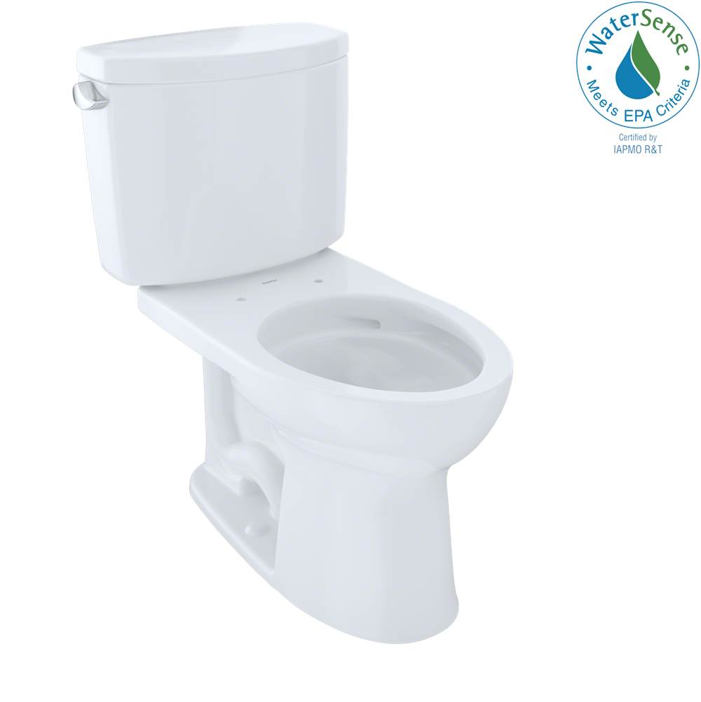 Toto Drake® II Two-Piece Elongated 1.28 GPF Universal Height Toilet with CEFIONTECT, Cotton White
