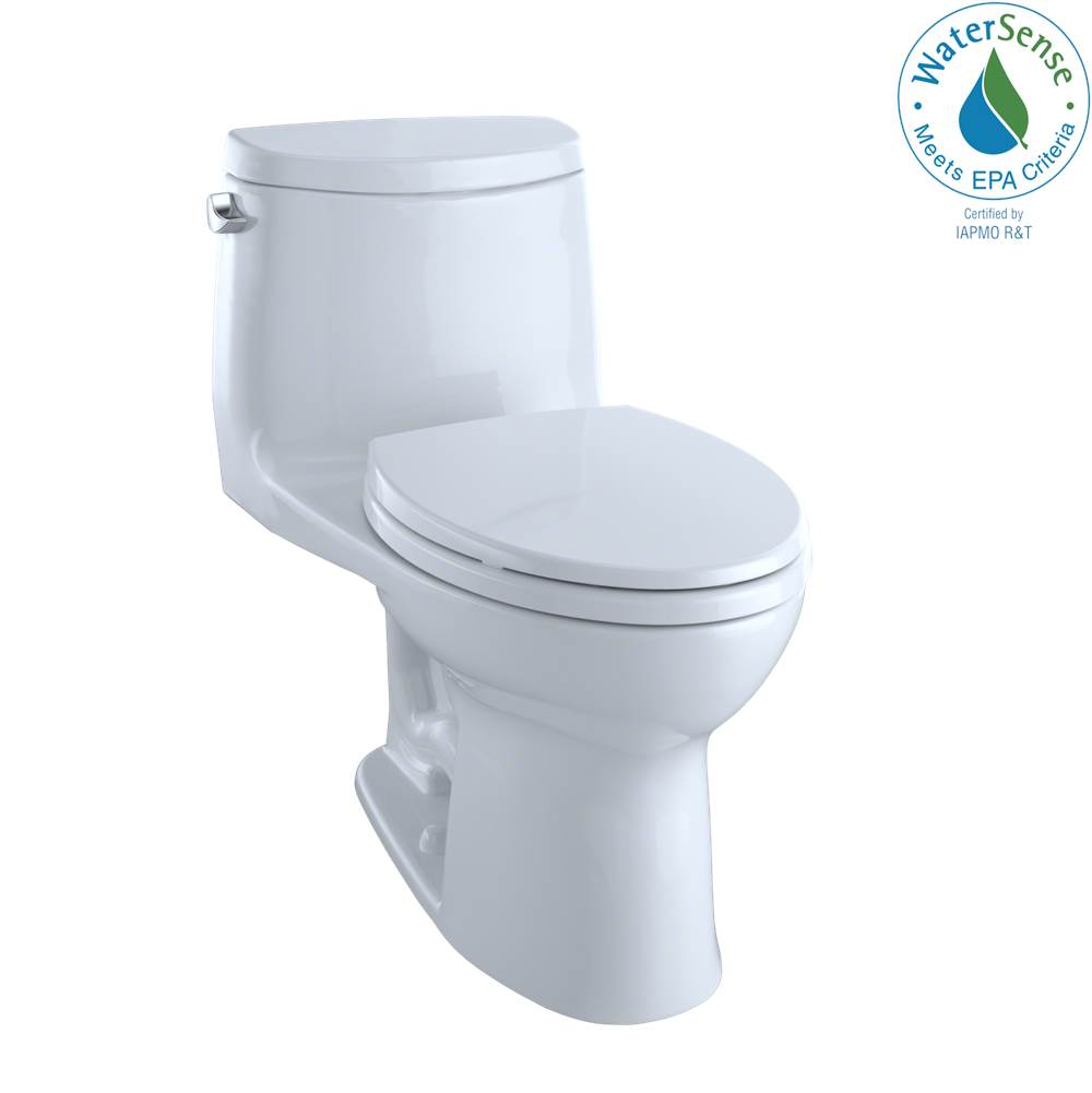 Toto UltraMax® II One-Piece Elongated 1.28 GPF Universal Height Toilet with CEFIONTECT, Cotton White